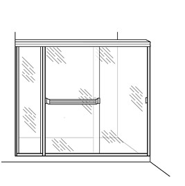 Shower Enclosure with Inline Panel