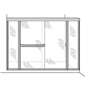 Shower Enclosure with Two Inline Panels