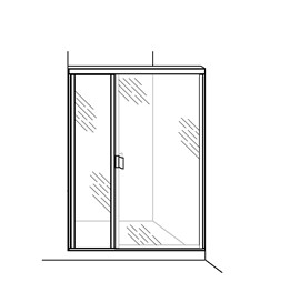 Swing Door with Inline Panel