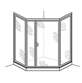Swing Door with Inline and Neo-Angle Panels