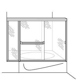 Tub Enclosure with Inline Panel